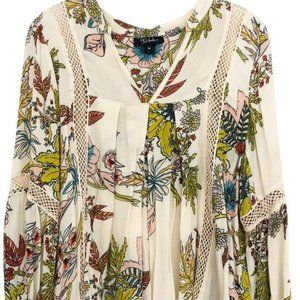NEW Anthropologie rd+ RO RIO Bright Floral  BLOUSE
